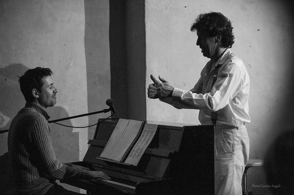Nicolas Carré chante,,, avec Bruno Mistrali au piano